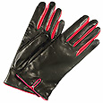 Click Here for More information or to Buy online Fuchsia & Black Leather Ladies' Gloves
