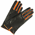 Click Here for More information or to Buy online Orange & Black Leather Ladies' Gloves