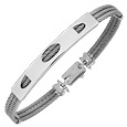 Click Here for More information or to Buy online DiFulco Line Sterling Silver Plate Three-Strand Bracelet