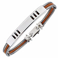 Click Here for More information or to Buy online Di Fulco - Stainless Steel Bracelet with Sterling Silver Plaque