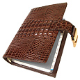 Click Here for More information or to Buy online Stamped Alligator Leather Planner