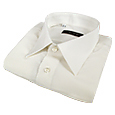 Click Here for More information or to Buy online White Pure Silk Dress Shirt