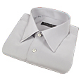 Click Here for More information or to Buy online Silver Gray Pure Silk Dress Shirt
