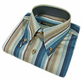 Click Here for More information or to Buy online Blue & Brown Striped Button Down Dress Shirt