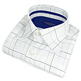 Click Here for More information or to Buy online White Checks & Squares Cotton Dress Shirt
