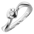 Click Here for More information or to Buy online 18K White Gold Solitaire Diamond Ring