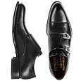 More information or Buy online Italian Handcrafted Black Leather Monk Strap Shoes