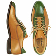 More information or Buy online Italian Handcrafted Caramel & Green Leather Lace-up Shoes