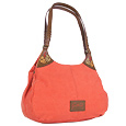 Click Here for More information or to Buy online Coral Canvas and Leather Spacious Hobo Bag