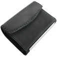 Click Here for More information or to Buy online Black Microfibre and Leather Large Flap Wallet