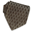 Click Here for More information or to Buy online Brown Geometric Diamonds Jacquard Silk Tie