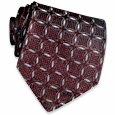 Click Here for More information or to Buy online Burgundy Geometric Jacquard Silk Tie
