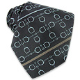 Click Here for More information or to Buy online Axel - Crossing Stirrups Woven Silk Tie