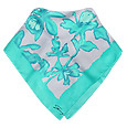 Click Here for More information or to Buy online Turquoise Flower Print Square Silk Scarf