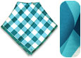Click Here for More information or to Buy online Teal and White Bandana