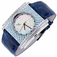 Click Here for More information or to Buy online Blue and White Swarovski Crystal Pavé Watch