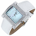 Click Here for More information or to Buy online White Mother of Pearl & Swarovski Bezel Watch
