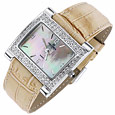 Click Here for More information or to Buy online Camel Mother of Pearl & Swarovski Bezel Watch