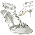 More information or Buy online Silver Flower Ankle-wrap Sandal Shoes