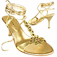 More information or Buy online Gold Flower Ankle-wrap Sandal Shoes