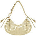Click Here for More information or to Buy online Beige Lizard-Embossed Leather Hobo Bag