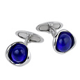 Click Here for More information or to Buy online Blue Murano Glass Sterling Silver Cufflinks