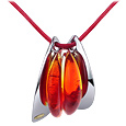 Vanita' - Red Murano Glass Pendant