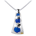 Click Here for More information or to Buy online Vanita' - Blue Murano Glass Cut-Out Pendant