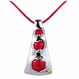 Vanita' - Red Murano Glass Cut-Out Pendant