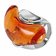 Click Here for More information or to Buy online Vanita' - Amber Murano Glass Stone Ring