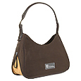 Click Here for More information or to Buy online Brown Canvas and Leather Expandable Hobo Bag