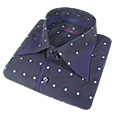 Click Here for More information or to Buy online Light Blue Dots Slim Cotton Dress Shirt