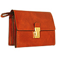 Click Here for More information or to Buy online Men's Triple Gusset Brown Leather Clutch