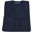 Dark Blue Cashmere V-neck Sweater  Manolo Likes!  Click!