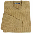 Biscuit Cashmere Ribbed Crewneck Sweater   Manolo Likes!  Click!