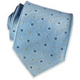 Click Here for More information or to Buy online Light Blue Shimmering Geometric Silk Tie