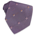 Click Here for More information or to Buy online Purple Flowered Woven Silk Tie