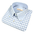 Click Here for More information or to Buy online Small Checks Button Down Cotton Dress Shirt