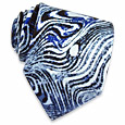 Click Here for More information or to Buy online Grained Blue and Black Printed Silk Tie