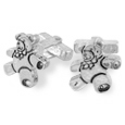 Click Here for More information or to Buy online Sterling Silver Teddy Bear Cufflinks