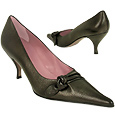 More information or Buy online Black Knot Leather Pointy Pump Shoes