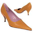 More information or Buy online Caramel Calfskin Leather Pointy Pump Shoes