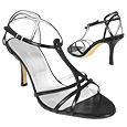 More information or Buy online Black Smooth Calf Leather Strappy T-Sandal Shoes
