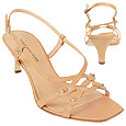 Light Tan Calf Leather Slingback Sandal Shoes