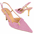 More information or Buy online Lilac Croco-style Leather Slingback Pump Shoes