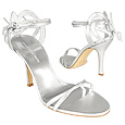 More information or Buy online Silver Strappy High-heel Leather Sandal Shoes