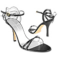 More information or Buy online Black Strappy High-heel Leather Sandal Shoes
