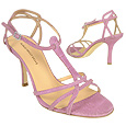 More information or Buy online Lilac Croco-embossed Strappy T-Sandal Shoes