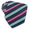 Click Here for More information or to Buy online Fuchsia & Blue Bands Textured Tie