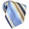Click Here for More information or to Buy online Light Blue Diagonal Stripes Woven Silk Tie
